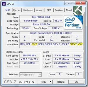 La scheda  di una CPU compatibile