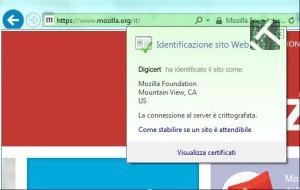 Il sito mozilla in https senza superfish